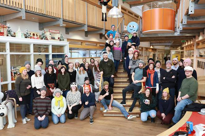 team at Aardman Studios