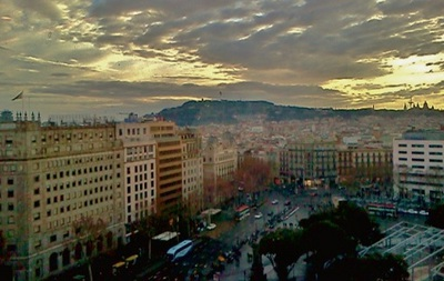 the view from el corte ingles of barcelona