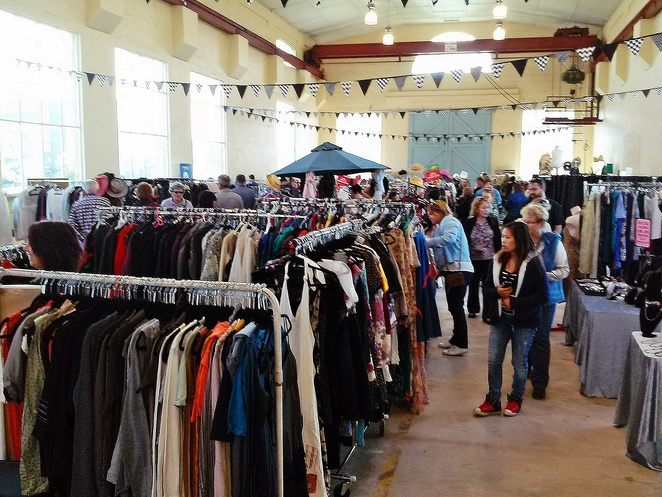 three sixty fashion market, fitters workshop, canberra, ACT, second hand clothes, retro, vintage, recycled clothes,