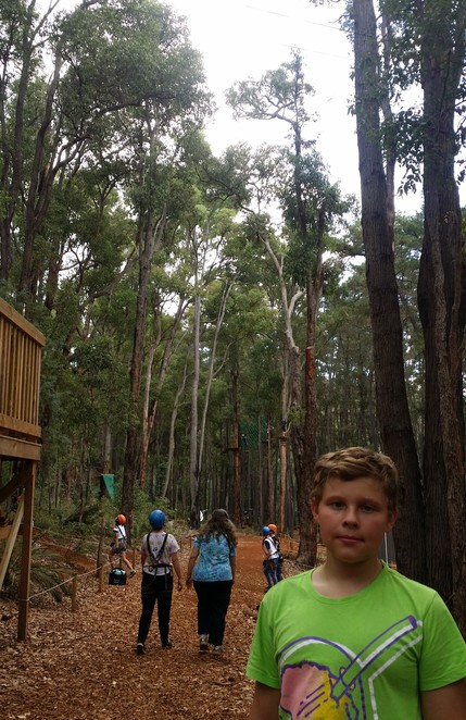 Trees Adventure, Lane Poole Park, Adrenalin sports Perth, aerial climbing Perth, Fun activities family Dwellingup, School holiday activites Pinjarra Perth, Rope climbing flying foxes Pinjarra Perth