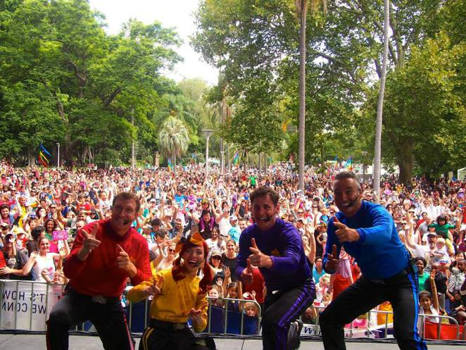 The Wiggles performed at Sydney's Hyde Park during Australia Day 2014.