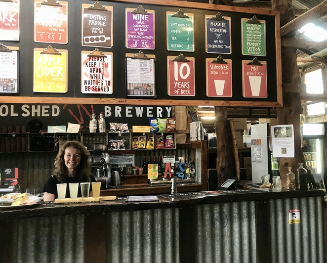 Woodshed Brewery bar