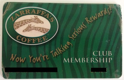 Zarrfaffas Loyalty Card