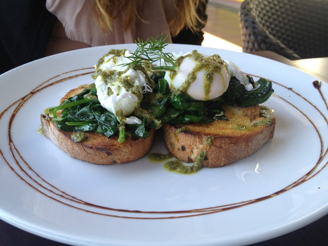 A couple of poached eggs - simple yet delicious