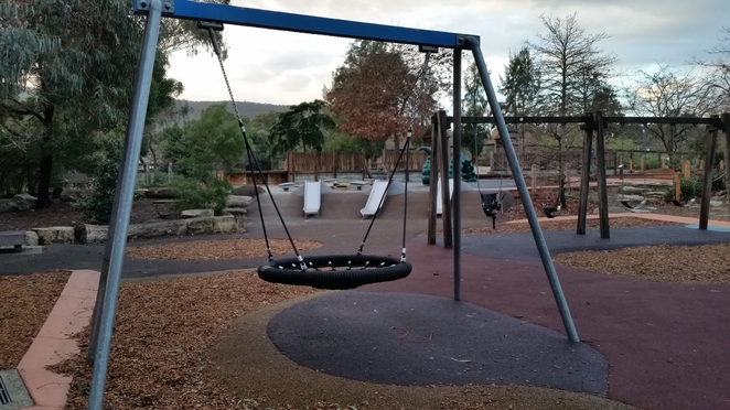 Baskets swings for young and old
