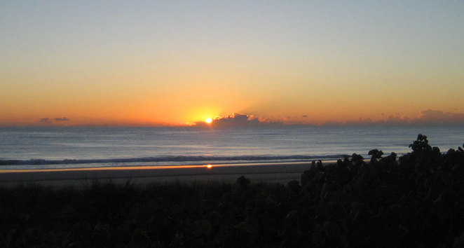 Sunrise at Bilinga Beach