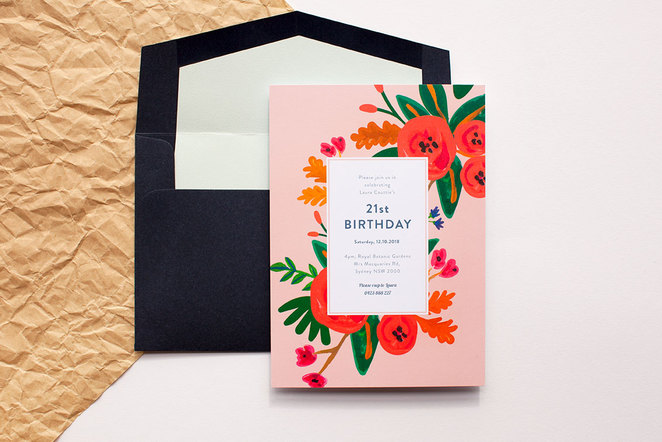 birthday invitation, birthday party, 21st birthday,