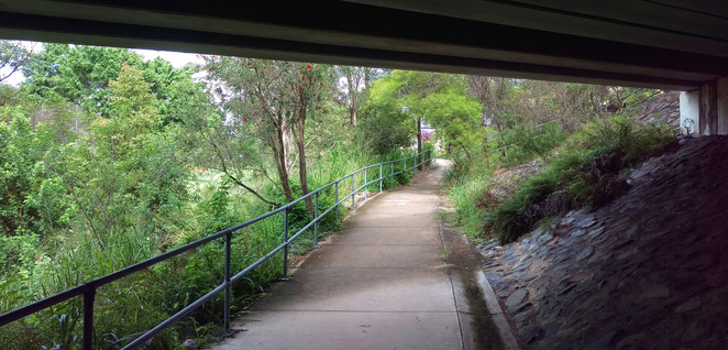 The path under Hamilton Road
