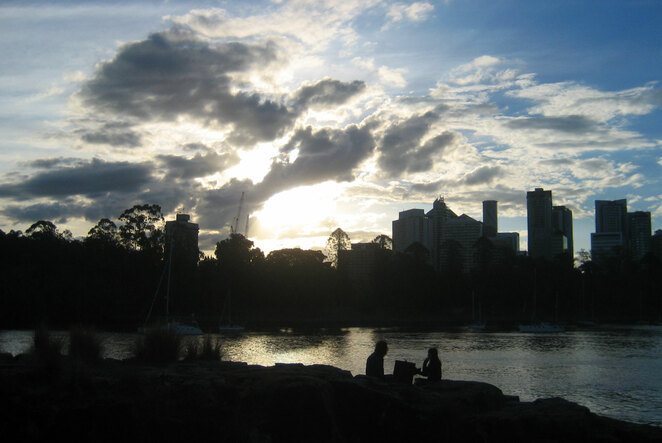Nothing is more romantic than a picnic by water while the sun sets