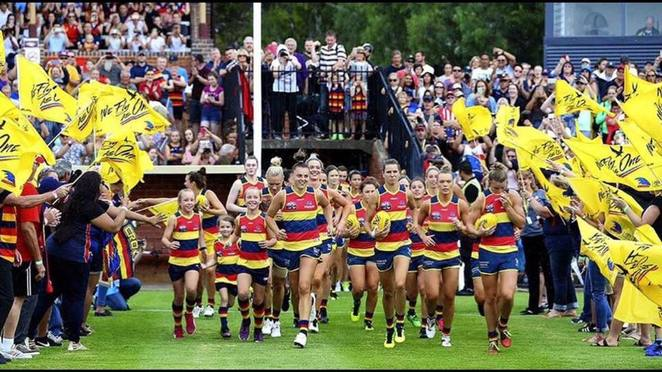 AFLW, Adelaide Crows, Erin Phillips, Tex Perkins, Norwood Oval, AFL, Womens League