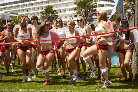 Cupids undie run 2016, valentines day, find a valentine
