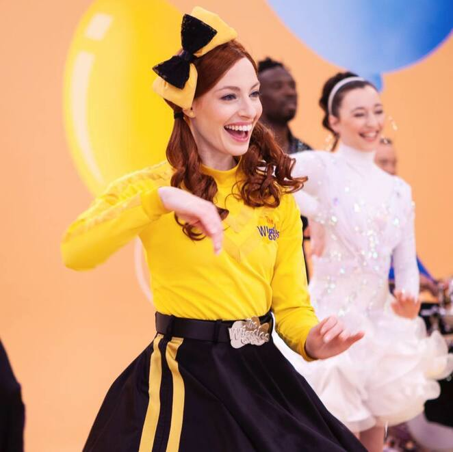 emma watkins, emma wiggle, emma yellow wiggle, the bestest virtual birthday party 2020, best & less, fun for kids, yellow wiggle, wiggles, fun things to do, community event, join the party, entertainment, performing arts