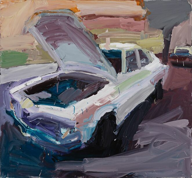 Ben Quilty, Australia, born 1973, Torana no. 5, 2003, Melbourne, oil on canvas, 120.0 x 140.0 cm; Private collection, Courtesy the artist, photo: Philip Betts-Murray, Betts Group