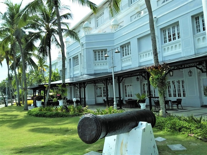 exterior of E&O Hotel heritage wing, penang, malaysia