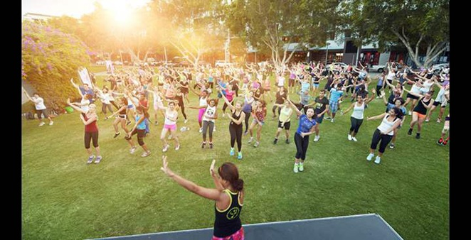 Free fitness classes, Southbank