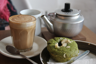 Green tea muffin