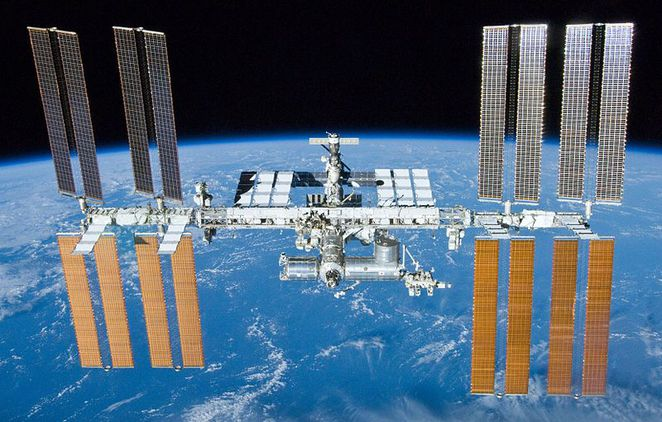 Photo of the International Space Station courtesy of NASA