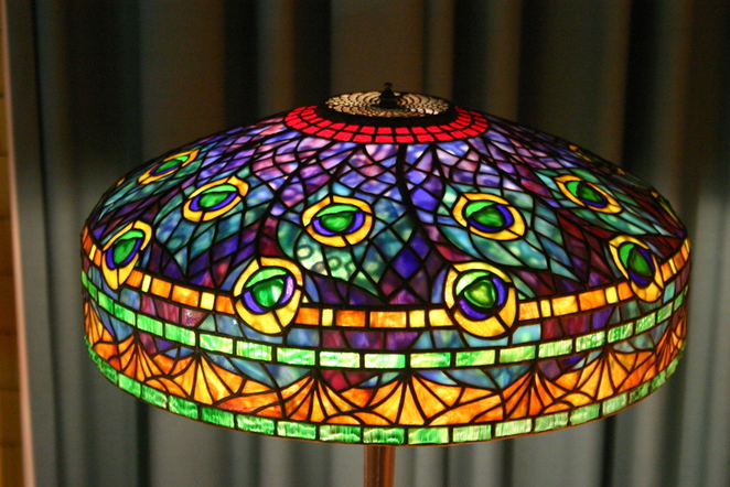 Copperfoil lampshade