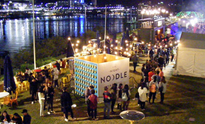 During July you can both go for free dance classes and then check out the Night Noodle Market at South Bank