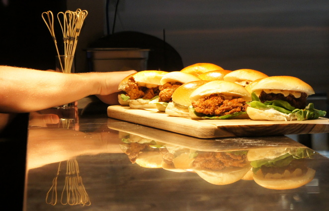 A plate of sliders at Oche bar