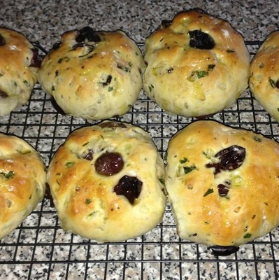 Olive bread rolls cypriot