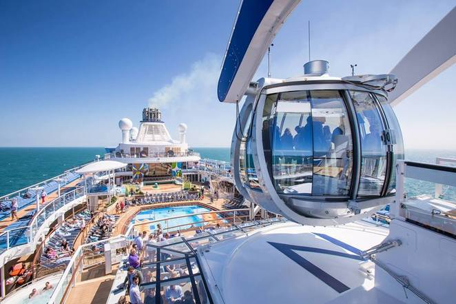 ovation of the seas, coral discoverer, seabourn sojourn, voyager of the seas, insignia, sea princess, north star, sun deck, sports court, the sanctuary, topsails bar, Darwin, fort hill wharf, east berth, west berth, zen quarter, shuffleboard, putting greens