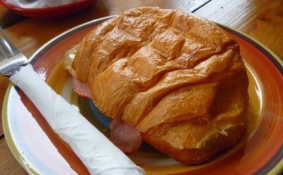 Ham and Cheese Croissant at The Little Fig