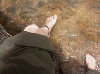 Paddling in Creek