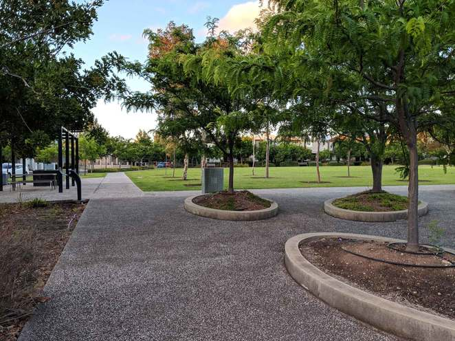 playground, park, BBQ's, walking trail, lightsview
