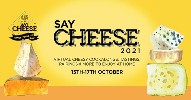 simon toohey cook along, karen martini cook along, say cheese 2021 virtual event, community event, fun things to do, say cheese festival 2021, cheese lovers, virtual lineup of events, lockdown cheese dreams, promage-spo for vegans, grilled cheese invitational, melbourne's best chefs, best grilled cheese toastie 2021, cheese tasting at home box, baked cheese cook along, vegan cheese cook along, grilled cheese invitational toastie pack