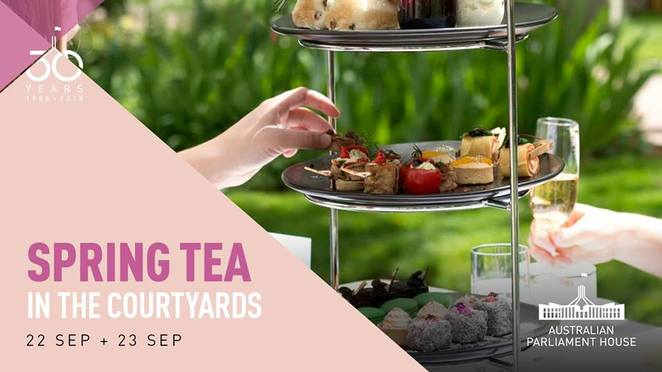 spring tea, canberra, parliament house, ACT, spring events, whats on, parliement house events, spring, 2018, september, family,