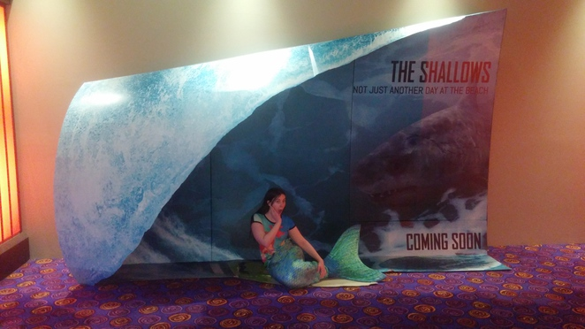 The Shallows,Mermaid, Mermaid Soxie, Reading Cinemas Bealmont, Photo Prop, Shark, Surf, Surfing, Shark Attack, Movie, Eco Horror, Horror, Action, Summer, Waves, Beach, Ocean, Sea, Australia, Seagull, Thriller