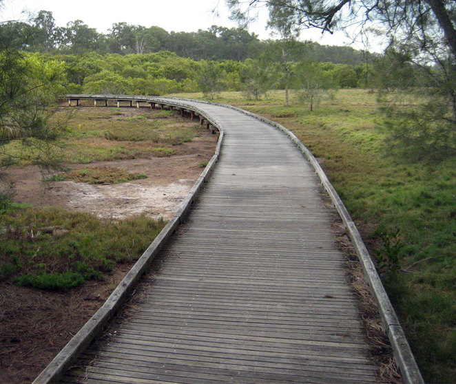 The boardwalk at Tinchi Tamba