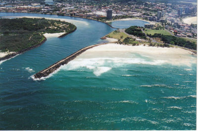 Tweed Heads, NSW at the mouth of the Tweed River. This image is from Wikimedia Commons (by Seandigger).