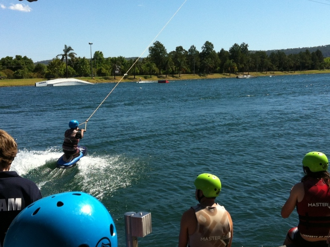 water skiing, wakeboarding, water play