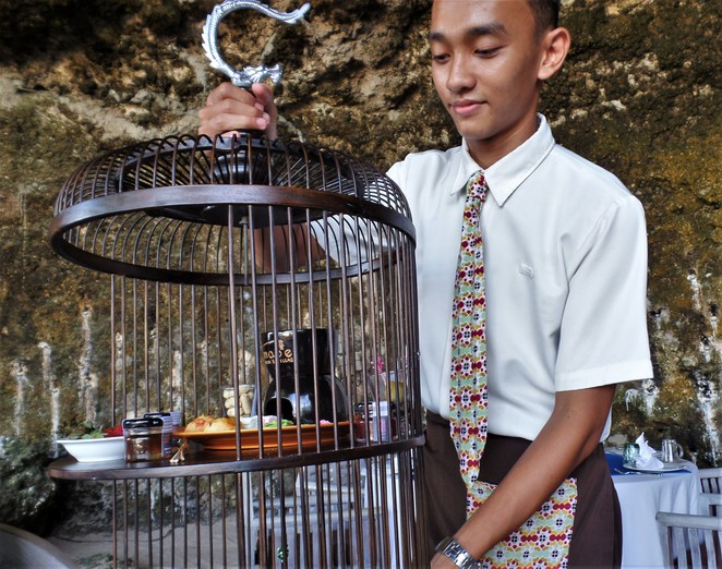 afternoon tea in cave at Samabe Bali Suites & Villas