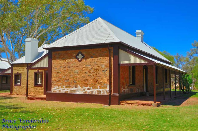 alice springs, telegraph station, overland telegraph line, northern territory, station master's residence