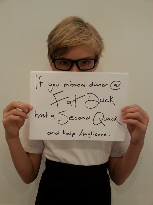 Anglicare second quack fat duck donation dinner homeless fundraiser 21 March