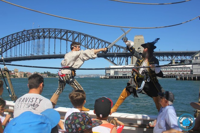 attack of the pirates, pirate ship sydney harbour, tall ships sydney harbour, family entertainment sydney harbour