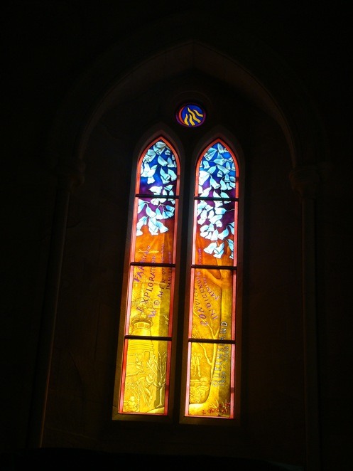 cathedral stained glass window