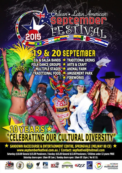 Chilean Festival 2015, Latin American Festival, Chile's independance Day, Chile, Sandown rocaecourse, Springvale