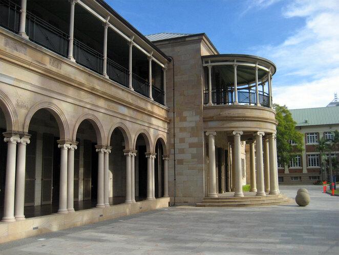 Old Government House is one of many attractions at QUT in the city