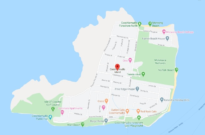 Coochie, with its three stunning beaches and close proximity to Brisbane, is the perfect getaway. Map courtesy of Google Maps