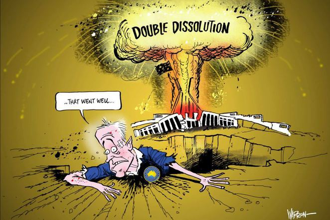 Double Dissolution, Warren Brown, comic