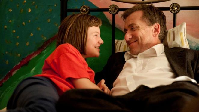 Eloise Lawrence and Tim Roth