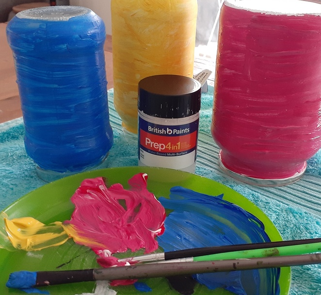 gift ideas, glass jars, DIY, british paints 4 in 1, primer, paint, gifts, DI, glass jars, painted glass jars, how to paint glass jars, presents, australia,