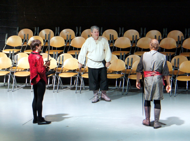 QSE rehearsing Henry IV, part 1