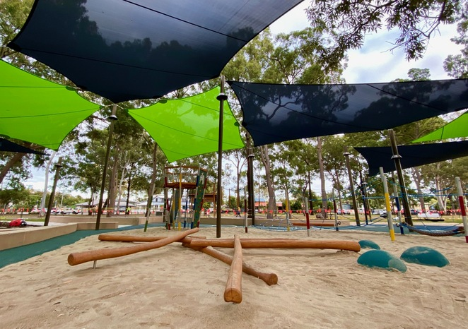 Apex Park has great facilities in addition to the new playground that make it a great family destination