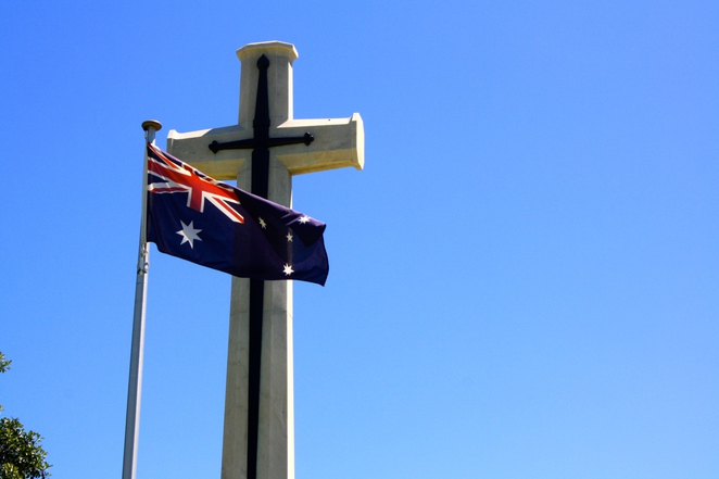 The cemetery is the site of Australia's first dedicated military burial ground
