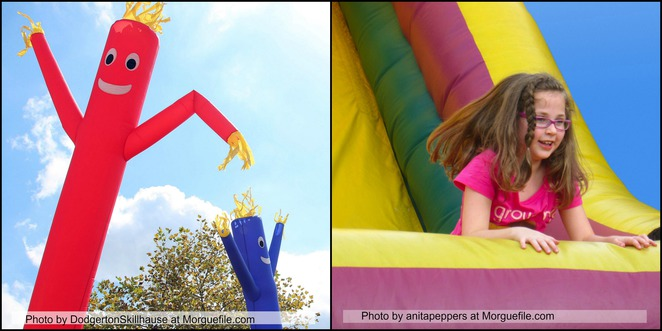 Inflatables, children, inflatable world,